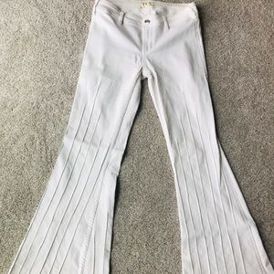 Free people Flare White Jeans 28